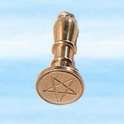 Pieczęć magiczna do laku - z pentagramem wykonana z mosiądzu