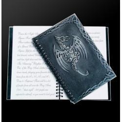 Księga praktyk magicznych - czarny smok 21,5 x 14,5