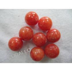 Jadeit pomarańczowy - kulka 16mm