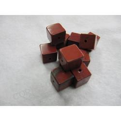 Jaspis czerwony - sześcian 6mm