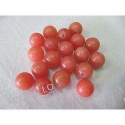 Jadeit - kulka 12mm - koralowy