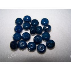 Agat niebieski - oponka 10x12 mm fasetowana