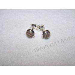 KRZEMIEŃ PASIASTY - KOLCZYKI WKRĘTKI(74) Biżuteria dla Pań