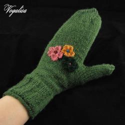 Rękawiczki jednopalczaste - zielone