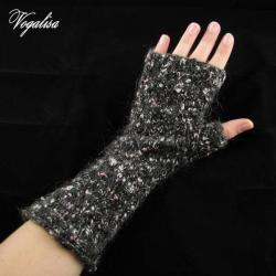 Rękawiczki bez palców - czarne