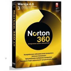 NORTON 360 WERSJA 4 BOX NA 3 STANOWISKA FV WYS 24H