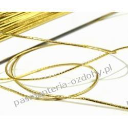 GUMA / GUMKA okrągła 1mm / 1m - złota