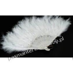 WACHLARZ Z PIÓR MARABUTA - kolor biały