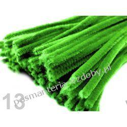 Drut /druciki kreatywne plusz 6mm/30cm - zielony Przedmioty do ozdabiania