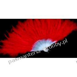 WACHLARZ Z PIÓR MARABUTA - kolor czerwony