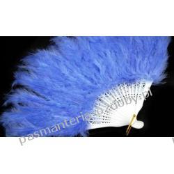 WACHLARZ Z PIÓR MARABUTA - kolor niebieski