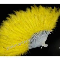 WACHLARZ Z PIÓR MARABUTA - kolor żółty