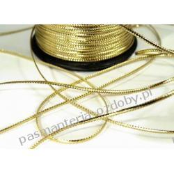 SZNUREK PŁASKI złoty srebrny czerwony 1m