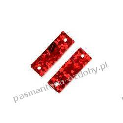 CEKINY LASEROWE PROSTOKATY 6x19mm 4g(ok 90szt) - czerwony Dodatki i ozdoby
