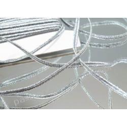 SUTASZ sznurek z lurexem PEGA 3mm złoty i srebrny