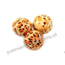 KORALIKI kule drewniane leopard 20 mm 6szt Akrylowe