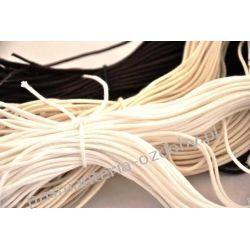 SZNUROWADŁA sznurówki OKRĄGŁE 3mm/70 cm białe Pozostałe
