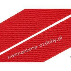 Guma gładka, tkana szer. 20mm czerwona 1m Akcesoria  krawieckie