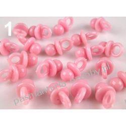 ZAWIESZKA - smoczki 20mm- 4szt - różowy Przedmioty do ozdabiania