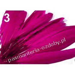 KACZE PIÓRA, KOLOROWE PIÓRKA  WINETOU 9-14 cm - amarantowy Druty, szydełka i czółenka
