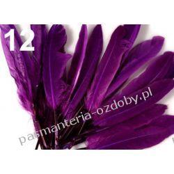 KACZE PIÓRA, KOLOROWE PIÓRKA  WINETOU 9-14 cm - fioletowy Drewniane