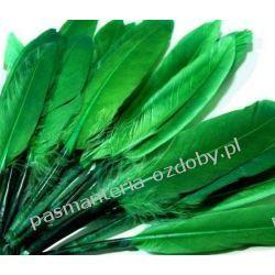 KACZE PIÓRA, KOLOROWE PIÓRKA  WINETOU 9-14 cm - zielony Drewniane