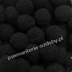POMPONY, POMPONIKI OZDOBNE małe 1cm / 1 szt - czarny Nici