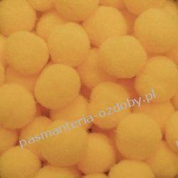 POMPONY, POMPONIKI OZDOBNE małe 1cm / 1 szt - ciemny żółty Pozostałe
