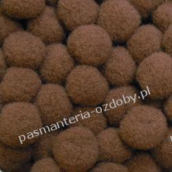 POMPONY, POMPONIKI OZDOBNE małe 1cm / 1 szt - jasny brąz Drewniane
