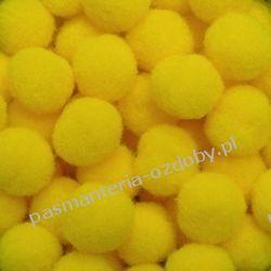 POMPONY, POMPONIKI OZDOBNE małe 1cm / 1 szt - jasny żółty Druty, szydełka i czółenka