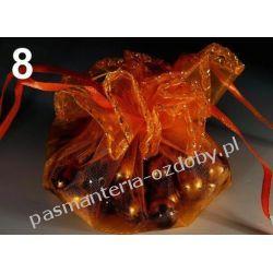 WORECZEK PODARUNKOWY z organzy - pomarańczowy Zamki i zapięcia