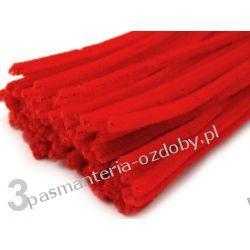 Drut /druciki kreatywne plusz 6mm/30cm - czerwony Druty, szydełka i czółenka