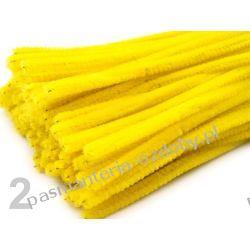 Drut /druciki kreatywne plusz 6mm/30cm - żółty Nici