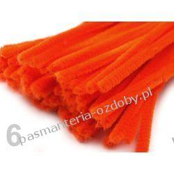 Drut /druciki kreatywne plusz 6mm/30cm - ciemny pomarańcz Dodatki i ozdoby