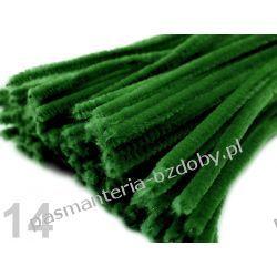 Drut /druciki kreatywne plusz 6mm/30cm - ciemny zielony Włóczki