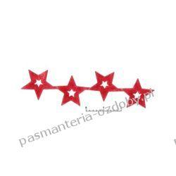 APLIKACJE Gwiazdki wz89 - 0,5m - czerwony Drewniane