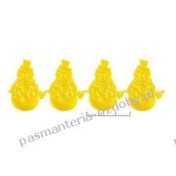 APLIKACJE BAŁWANKI wz95 - 0,5m - żółty Włóczki