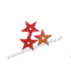 CEKINY TĘCZOWE GWIAZDKI 13mm 4g (ok 170szt.) - czerwone Włóczki