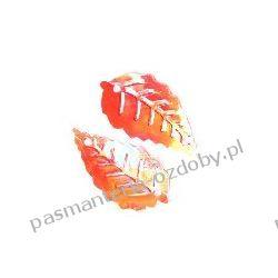 CEKINY TĘCZOWE LISTKI 15x25mm 5g (ok.65szt) - czerwone Przedmioty do ozdabiania