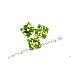 CEKINY LASEROWE KWADRATY 7x7mm 6g (ok 310szt) - zielony Akrylowe