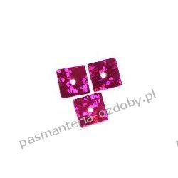 CEKINY LASEROWE KWADRATY 7x7mm 6g (ok 310szt) - różowy Dodatki i ozdoby