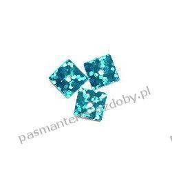 CEKINY LASEROWE KWADRATY 7x7mm 6g (ok 310szt) - niebieski Szklane zwykłe