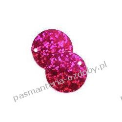 CEKINY LASEROWE KOŁA 20mm 6g(około 65szt) - różowy Akrylowe