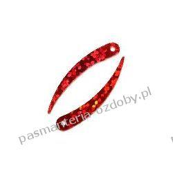 CEKINY LASEROWE ZĘBY 33mm 4g (ok.110 szt) - czerwony Nici