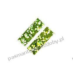 CEKINY LASEROWE PROSTOKATY 6x19mm 4g(ok 90szt) - zielony Dodatki i ozdoby