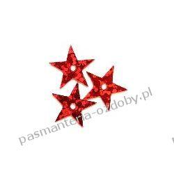 CEKINY GWIAZDKI 13mm 4g (ok 200 szt) - czerwony Drewniane