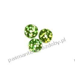 CEKINY LASEROWE KOŁA 8mm 6g (ok 360szt.) - zielony Crackle