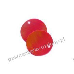 CEKINY TĘCZOWE KOŁA 20mm 6g(około 55szt) - czerwony Dodatki i ozdoby