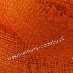 WSTĄŻKA JUTOWA (z nat. juty) HURT (10 M) - ciemny pomarańczowy Crackle