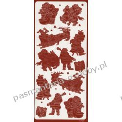 STICKERSY naklejki ażurowe MIKOŁAJE i inne - czerwony Nici
